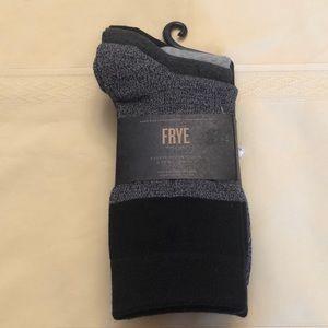 Frye socks. 3pair. New. Grey / black detail.